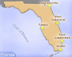 florida map of cruise ports