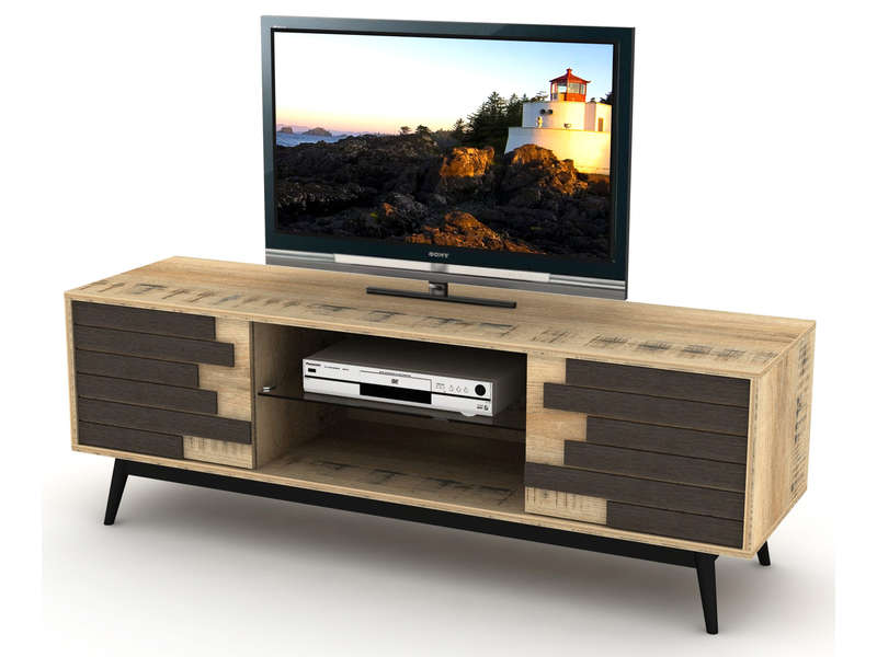 meuble tv 140 cm ethnica coloris gris