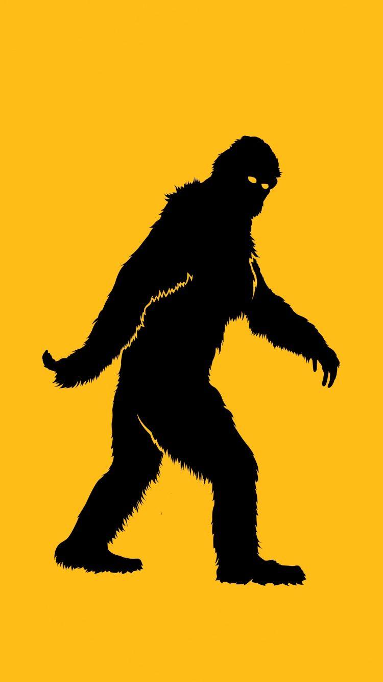 Bigfoot Wallpaper Silhouette Illustration Bigfoot Bigfoot Art