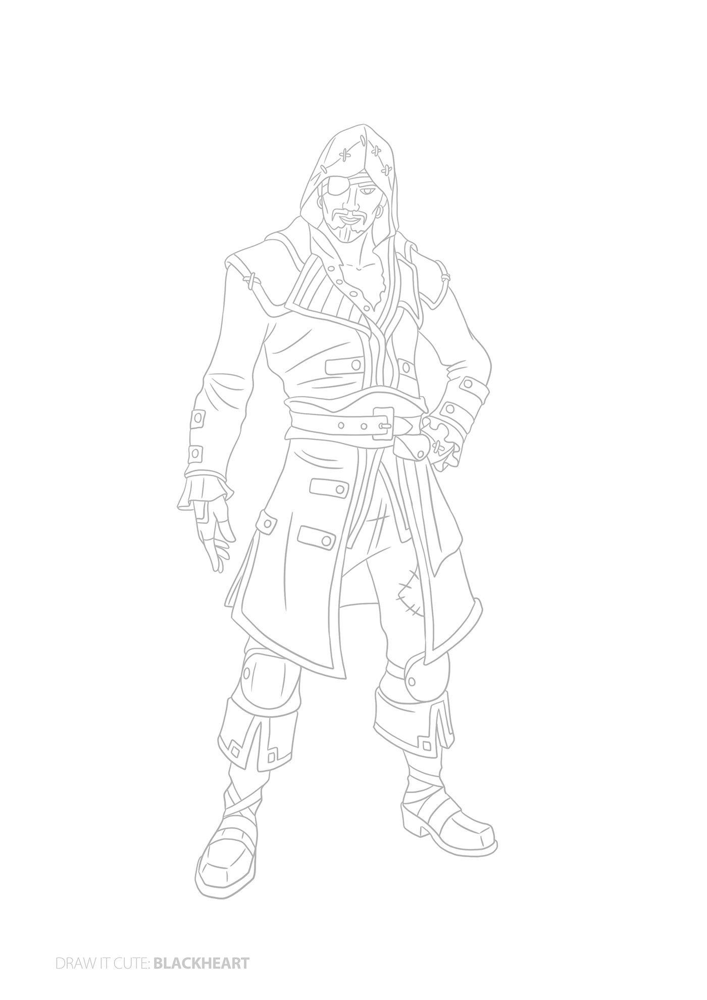 How To Draw Blackheart Easy Fortnite Season 8 Tut On Behance Dibujos Faciles Dibujos Fortnite Personajes