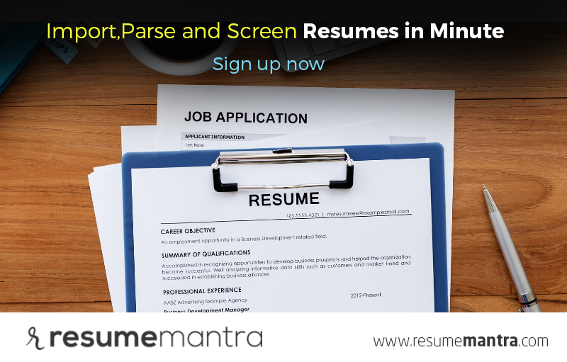 Increase Your Efficiency And Reduce Clicks By Leveraging Resumemantra S Parsing Engine To Extract Information Sig Tracking System Job Application Application