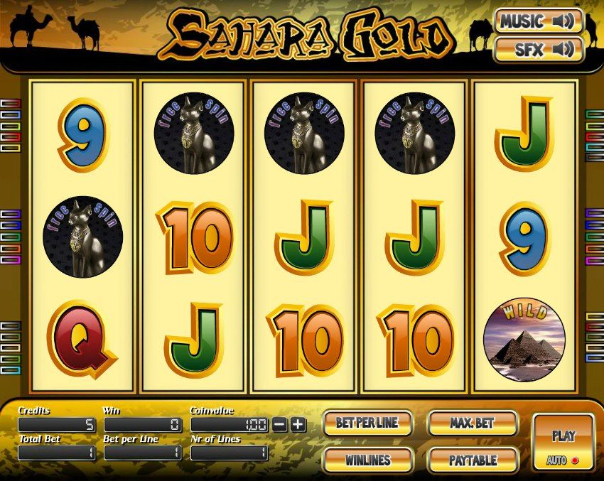 Sahara Gold 5 Reel Slot For More Games Register On Http Casino Goldenglory Com More Games Casino Slot