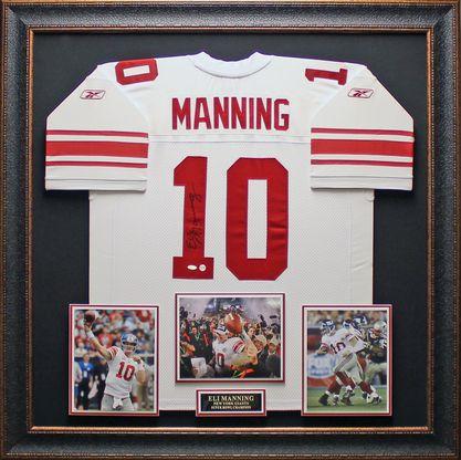 Eli Manning Autographed New York Giants Framed Jersey