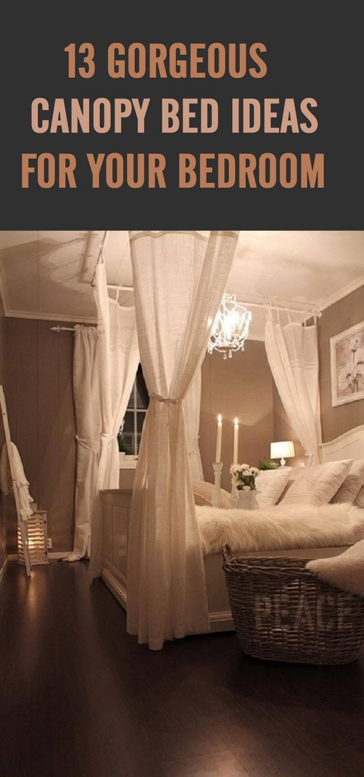 romantic master bedroom with canopy bed. 13 Beautiful Canopy Bed Ideas For Your Bedroom Romantic Master With E