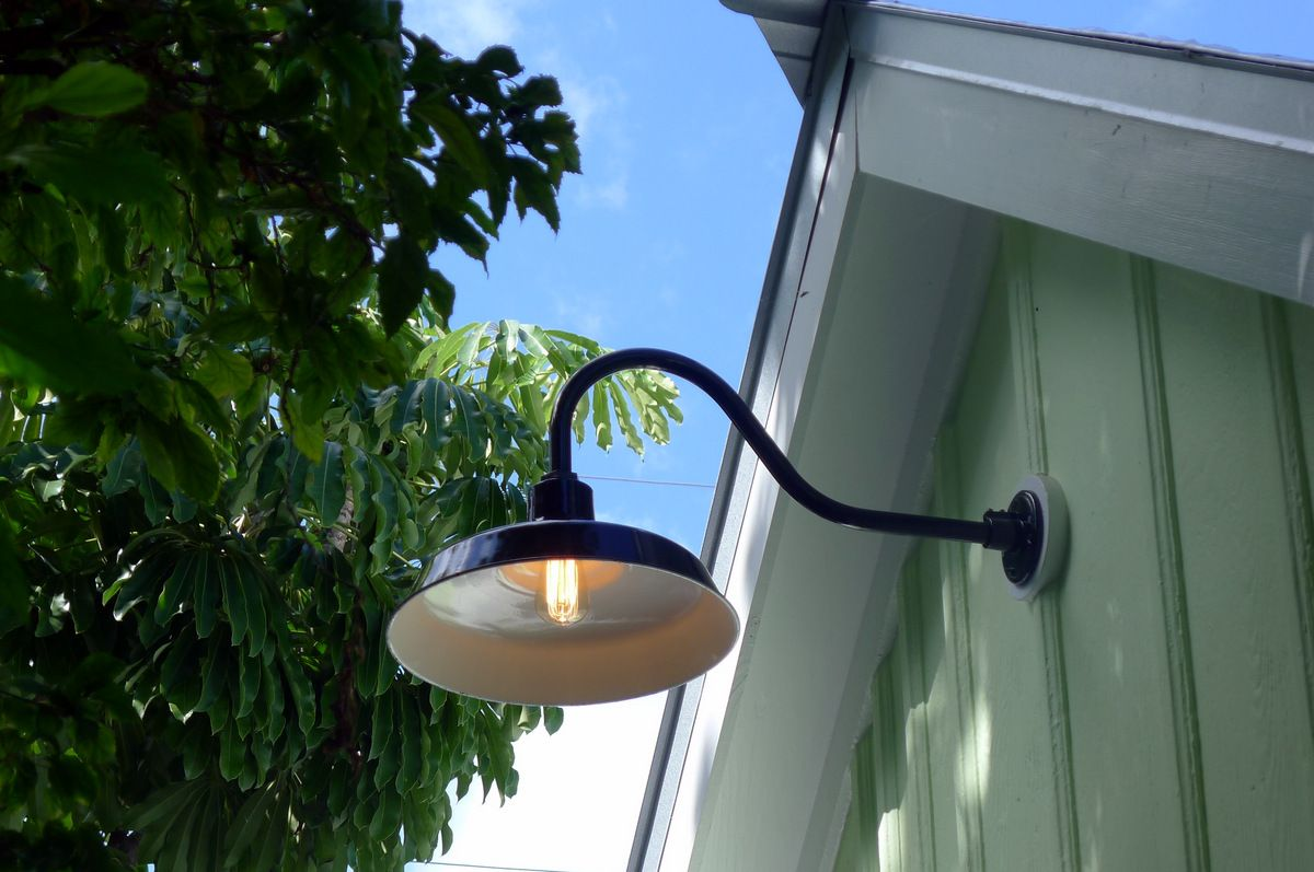 Gooseneck Barn Lights Bring Historic Touch To Conch Style Home Blog Barnlightelectric