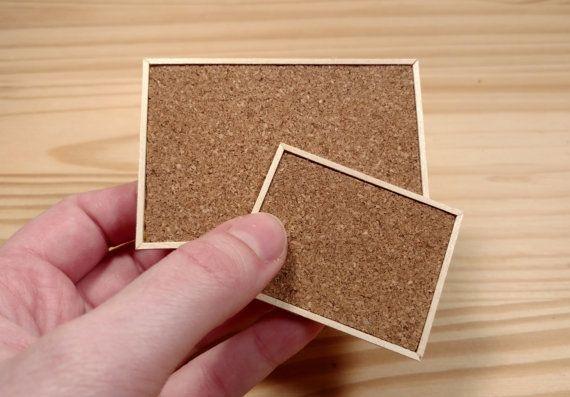 Miniature Dollhouse Cork Bulletin Board 1:12 by SmallhouseModels