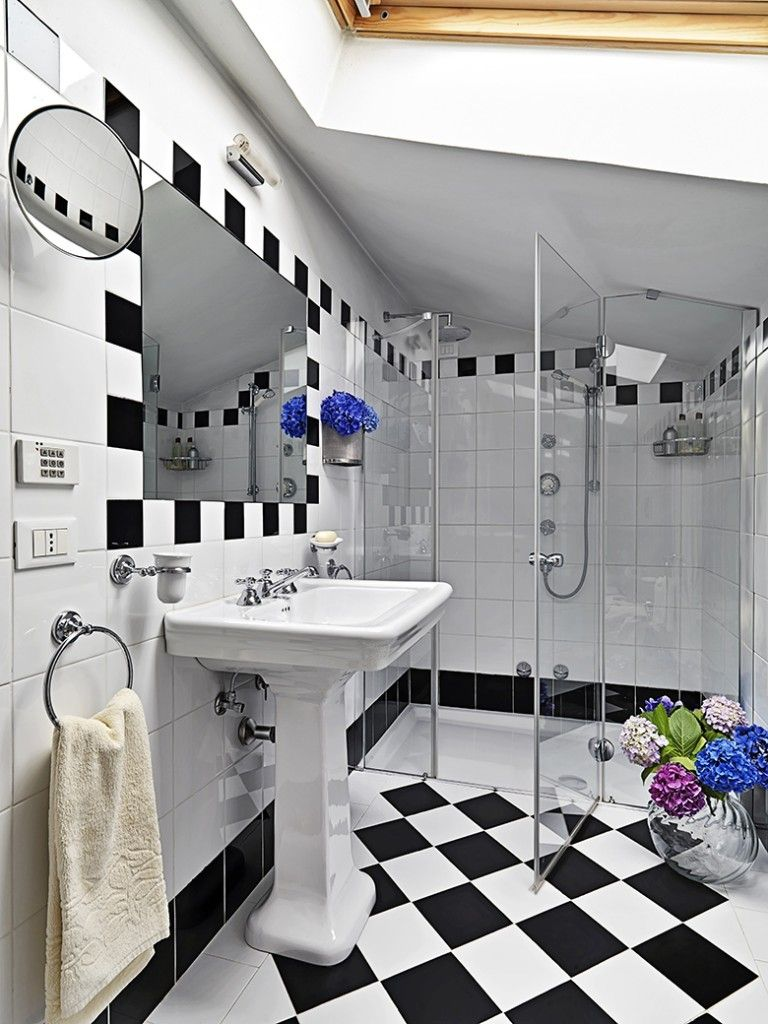 Badkamer voorbeelden zwart wit   badkamer   Pinterest - Badkamer ...