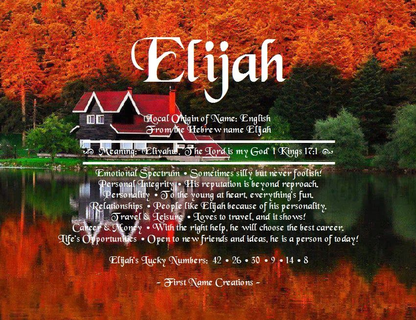 First Name Creations: Search results for Elijah | Names ...