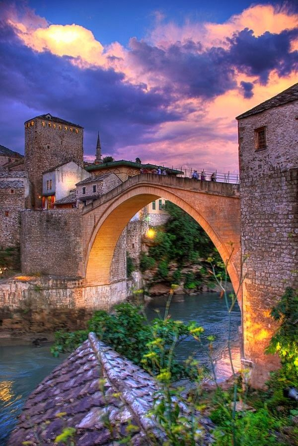 The Old Bridge. Mostar, Bosnia & Herzegovina.  For everything culture, arts, food and everything in between for Bosnia, head to http://bit.ly/BosniaHerzCultureTrip
