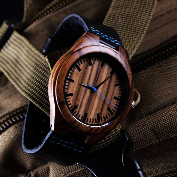 Engraved Wood Watch Wooden Watch Personalized Wood by trendyst
