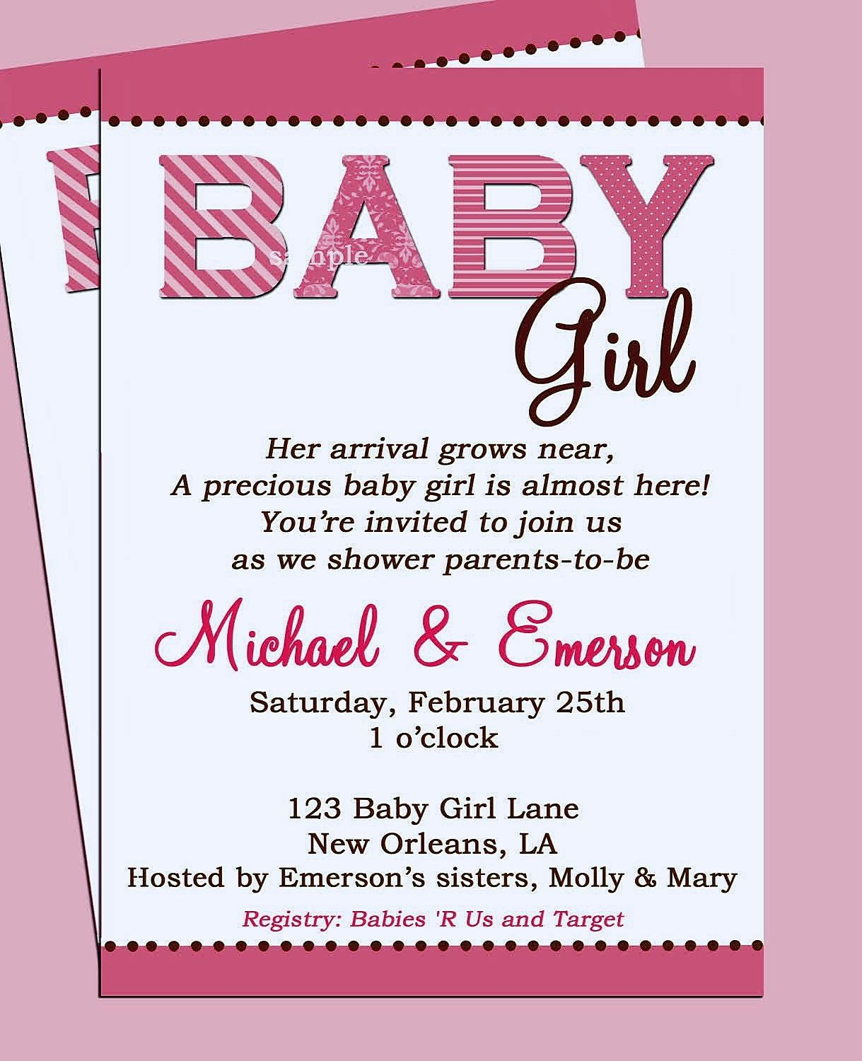 Wording For Baby Shower Invitations Asking For Gift Cards | http ...