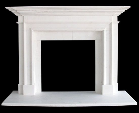Traditional Fireplace Sale White Marble Mantel Shelf With Hearth