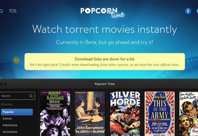 Popcorn Time l'application qui permet de regarder tous