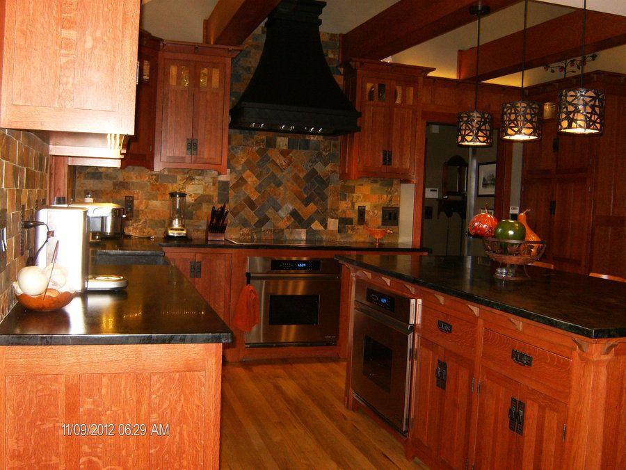 mission+style+kitchen | Custom Qt sawn white oak and black walnut ...