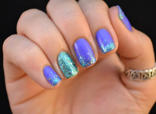 Nailed It // Love this color combo. Little Mermaid. - Nailed It.: Shimmer Polish Swatches And Review // Love This Color