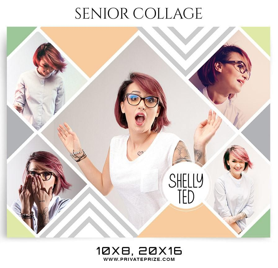 shelly ted - senior collage photography template | senior collage, Presentation templates