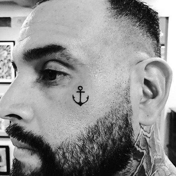 96c0626cc 40 Small Anchor Tattoo Designs For Men - Manly Miniature Ink Ideas ...