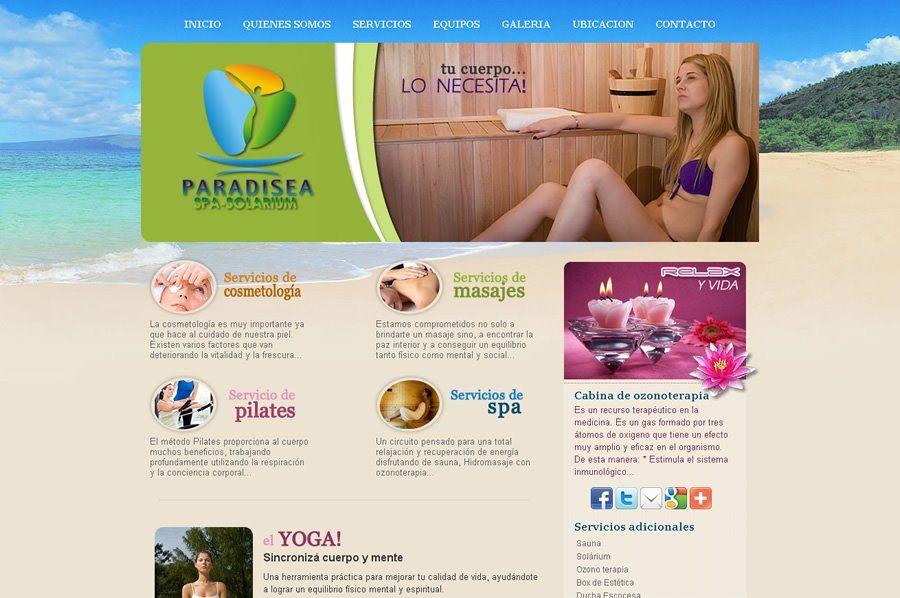 Paradisea Spa Ushuaia  Diseño y desarrollo Web.   Web: www.ushuaiaspa.com