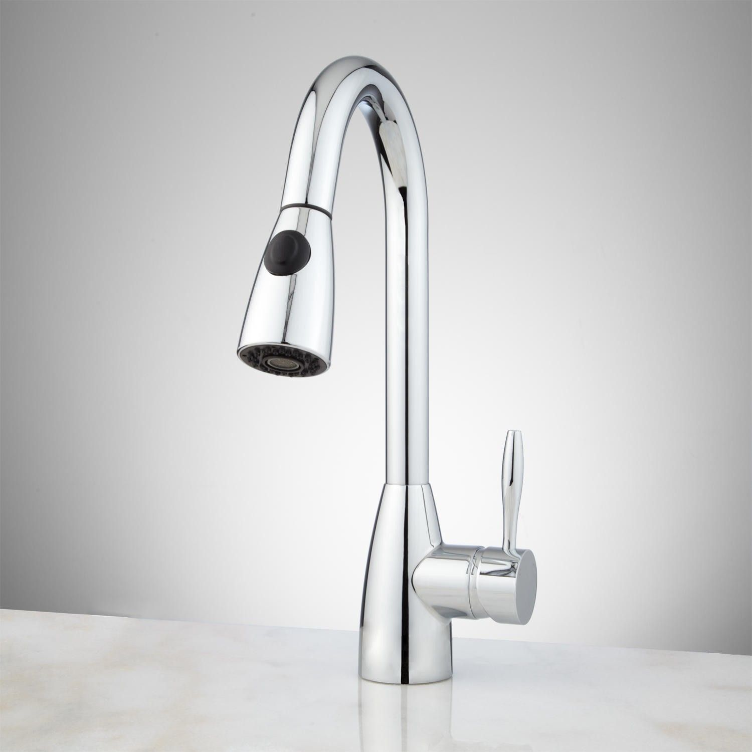 Incroyable Rostov Single Hole Pull Down Kitchen Faucet