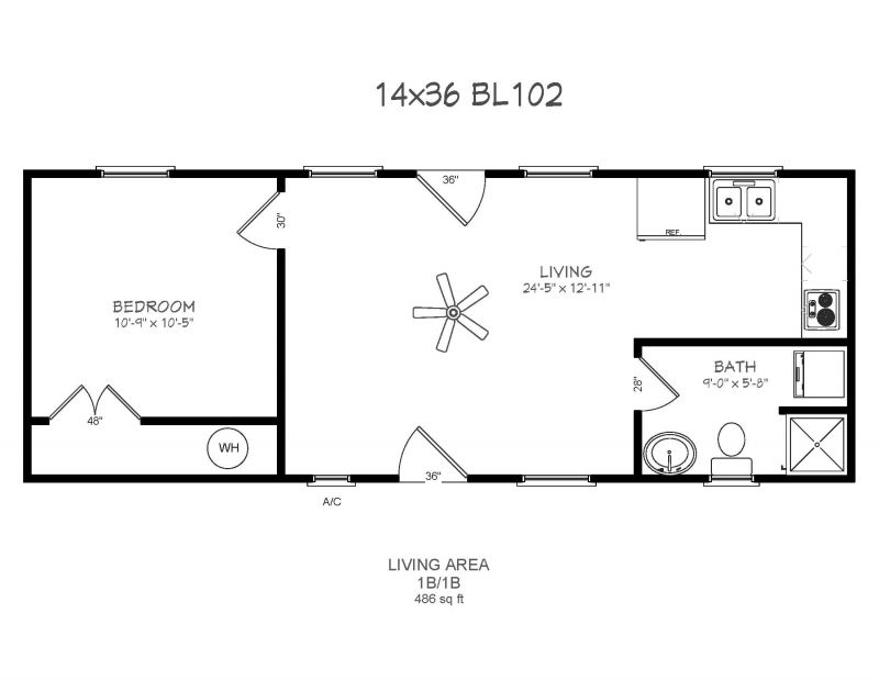 14 x 40 floor plans with loft bear lake series model 102 for 40 x 40 apartment plans