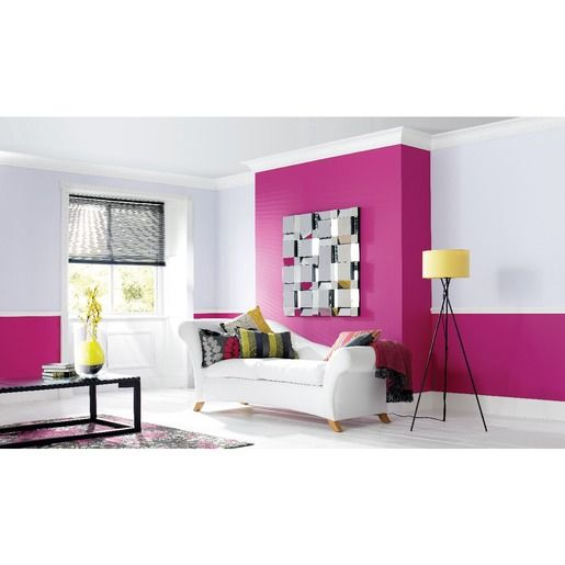 Wickes Vinyl Matt Emulsion Paint Fuchsia 2.5L | Kitchen/Dining Room ...