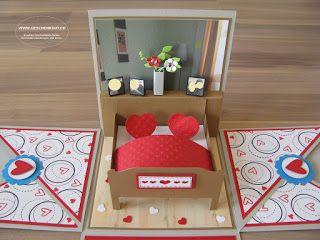 Geschenkbox Hochzeit Bett Uberraschungsbox Explosionsbox