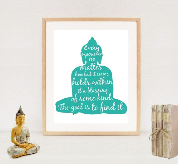 Spiritual Typography Wall Art Print Buddah by LillyLaManch, $5.00