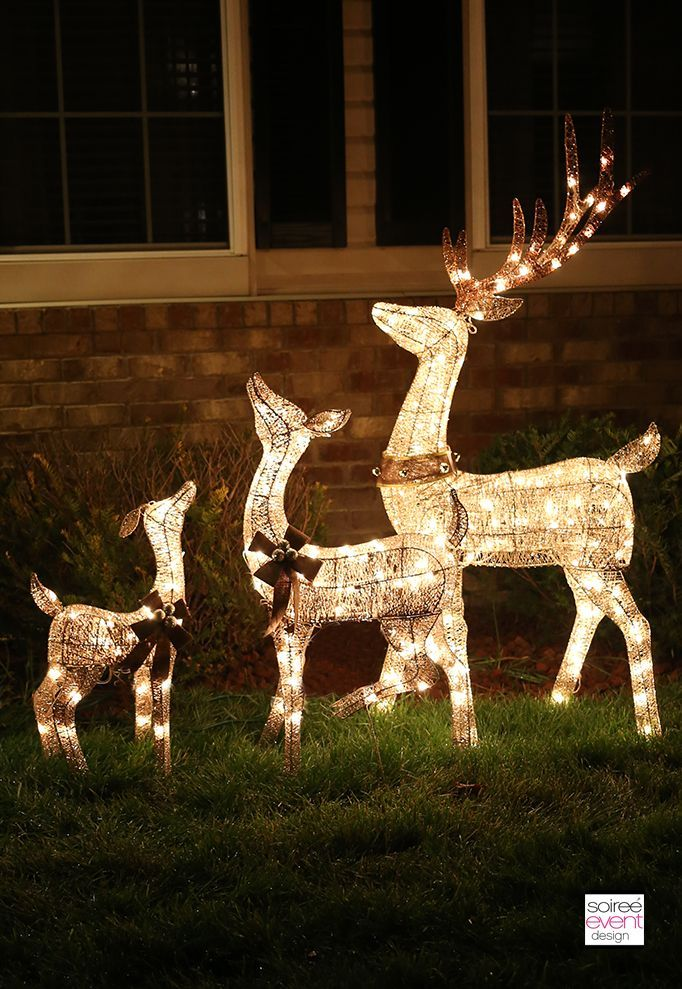 light up reindeer outdoor decorations christmas gift httpswwwamazoncom - Outside Reindeer Christmas Decorations