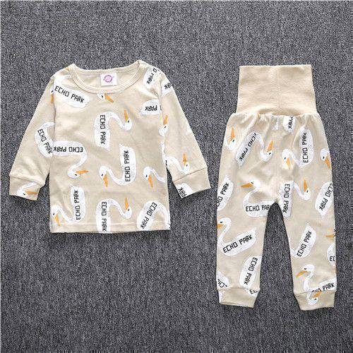 b1d6b494d Puseky 2017 NEW Cotton Kids Pajama Sets Boys Girls Nightwear Letter ...