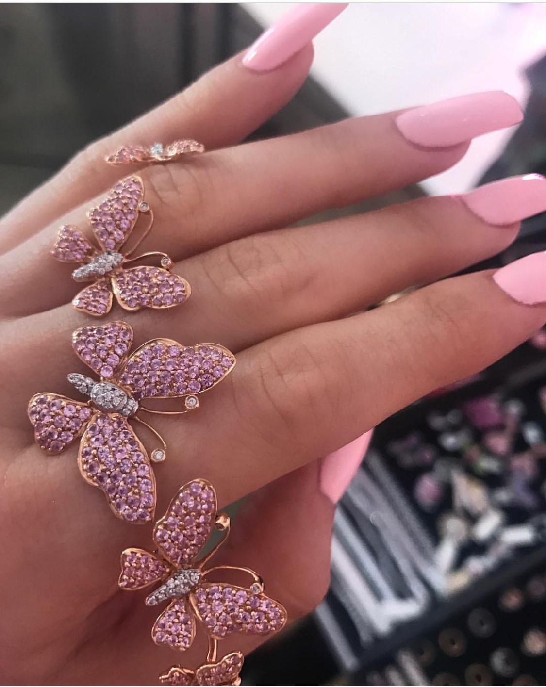 Nataliiaverteletska Pink Jewelry Pink Nails Kylie Jenner Nails