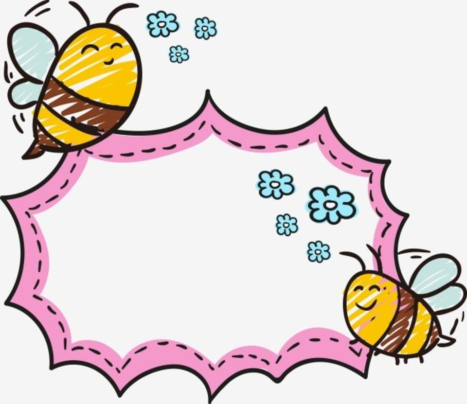 Cartoon Animals Cute Little Animal Animal Border Fresh Border Pink Border Bee Cute Border Animal Clipart Bee Clipart Cute Borders Clip Art Borders Bee Clipart