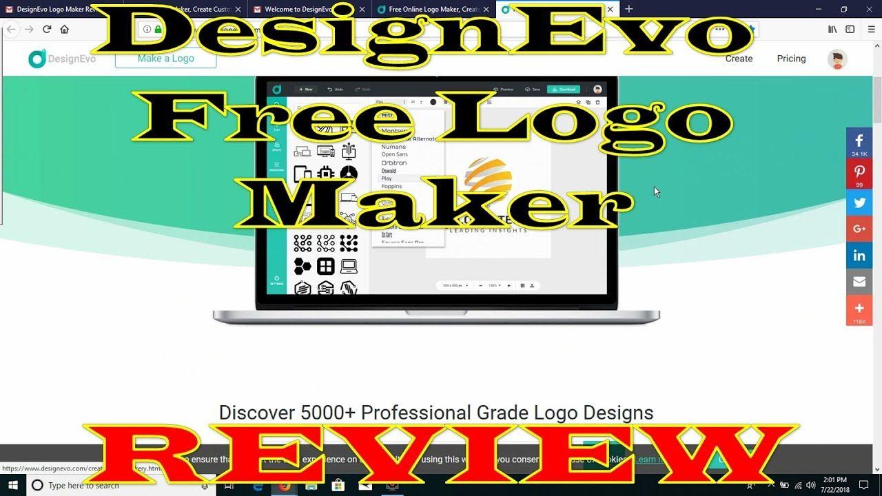 DesignEvo Free Logo Maker REVIEW (Make Professional Logos