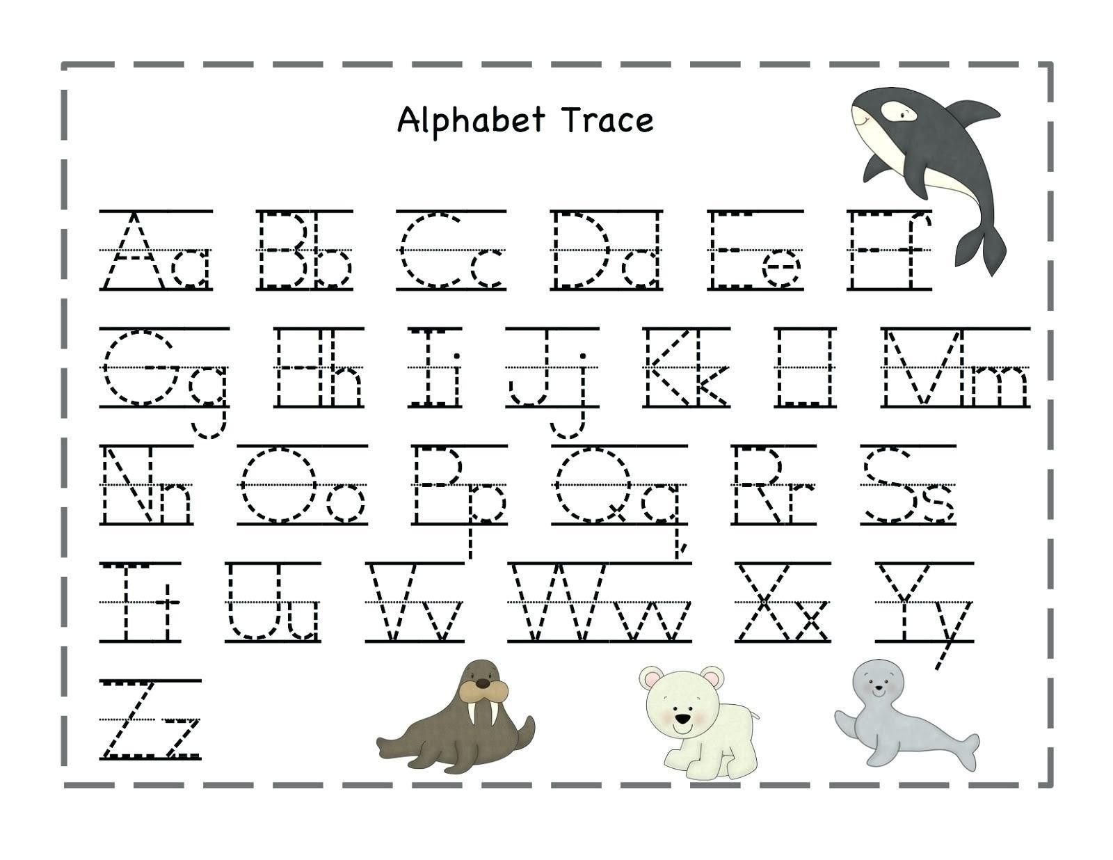 Alphabet Trace Sheets Printables In