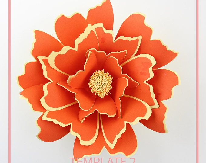 Paper flower template giant paper flower templates paper flower kit pdf paper flower diy for Giant paper flower template pdf