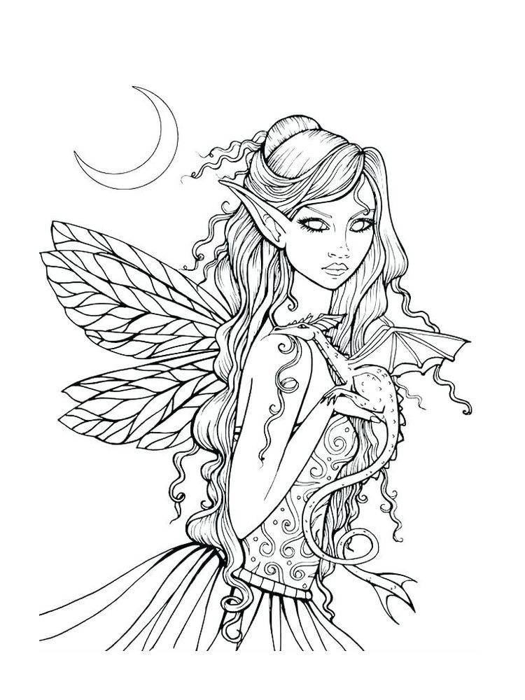 Barbie Fairy Coloring Pages To Print In 2020 Fairy Coloring Pages Dragon Coloring Page Fairy Coloring