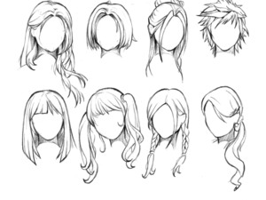 Hairstyle Anime Female Hairstyle Anime Drawing Hair Tutorial Manga Hair Anime Hair