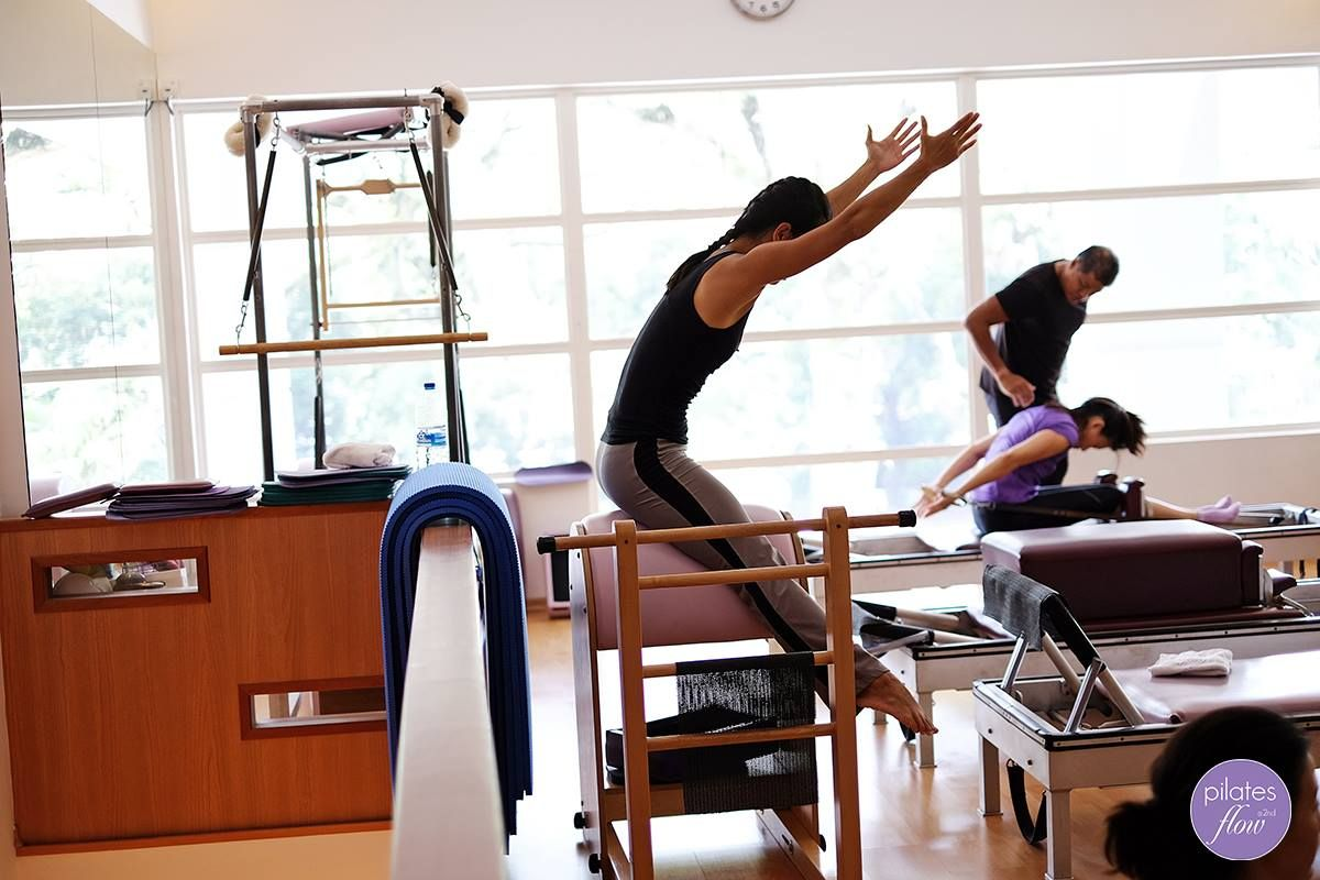 Balanced body pilates chair - The Horseback On The Pilates Ladder Barrel Works The C Curve Of The Spine
