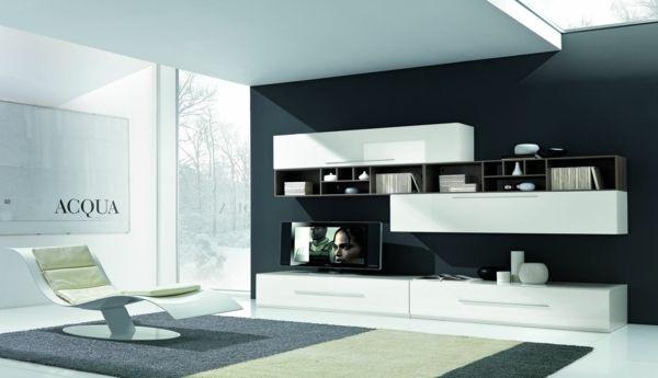 meuble tv bas avec rangement dans le salon minimaliste RANGEMENT