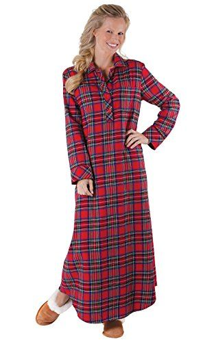 fb278c597f The perfect PajamaGram PajamaGram Women s Bright Plaid Flannel Nightgowns  Women s Fashion Clothing online.   44.99 - 54.99  alltrendytop from top  store