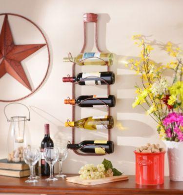 Lerwich Red Metal Hanging Wine Rack Hanging Wine Rack Wine Rack Wine Decor