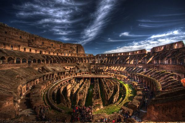 Inside Roman Colosseum -Italy