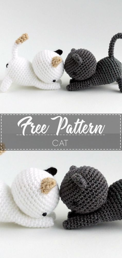 SOO CUTE CAT – FREE CROCHET PATTERN #cat #amigurumicat #crochet #freecrochetpattern #crochetlove #diy #tutorialcrochet #videocrochet #pattern