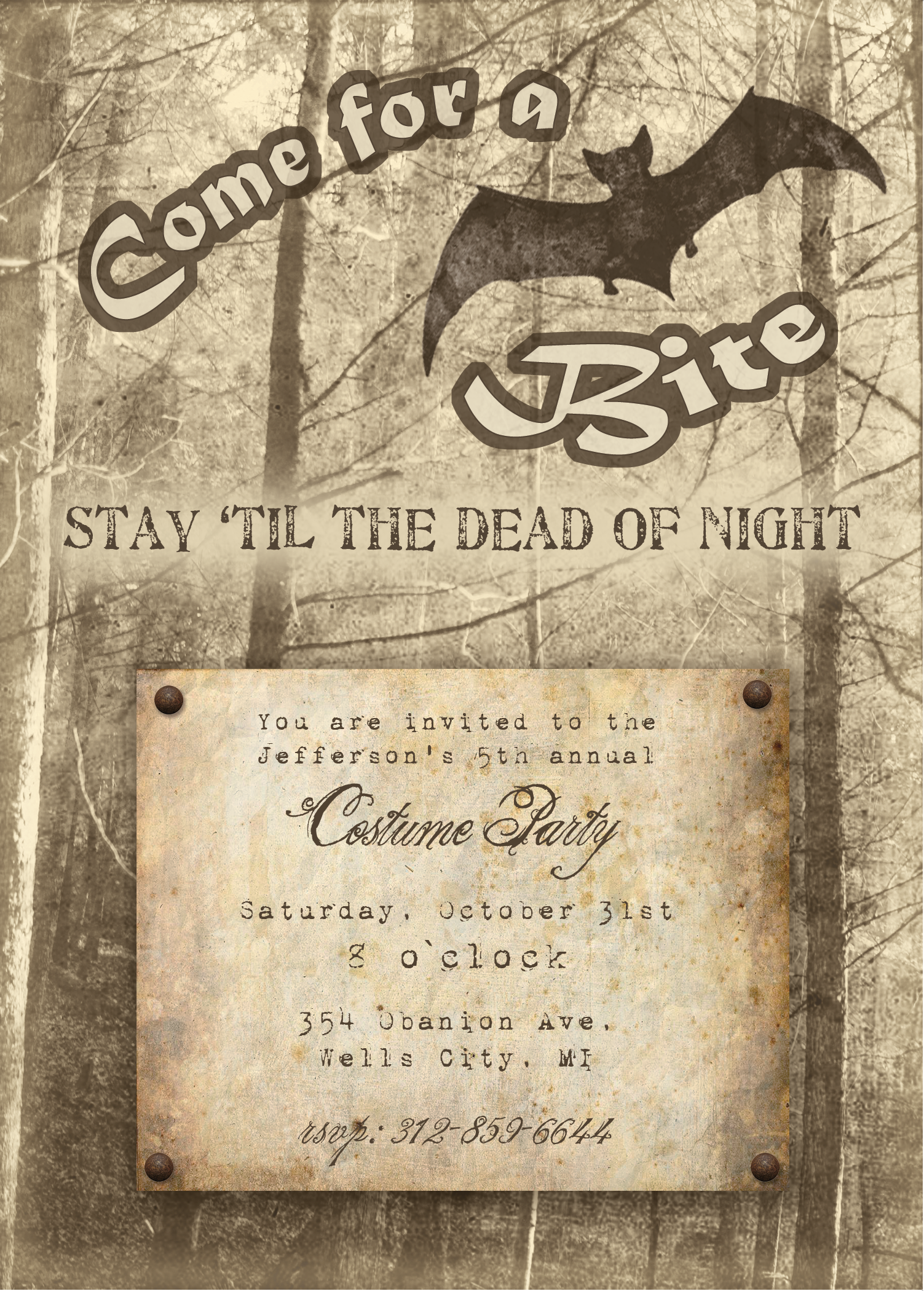 Free Printable Halloween Invitation Download The Printable Version