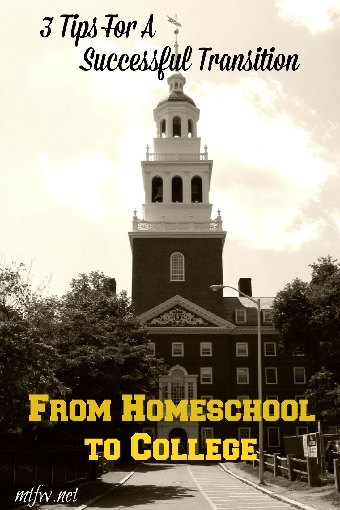 Easing The Transition From Homeschool To College