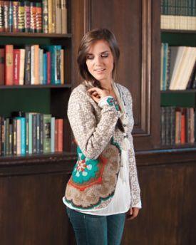 Suzani Jacket Kit - Brown - Knitting Yarn and Pattern Instructions
