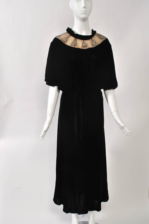 S black velvet gown with beaded yoke velvet gown black velvet
