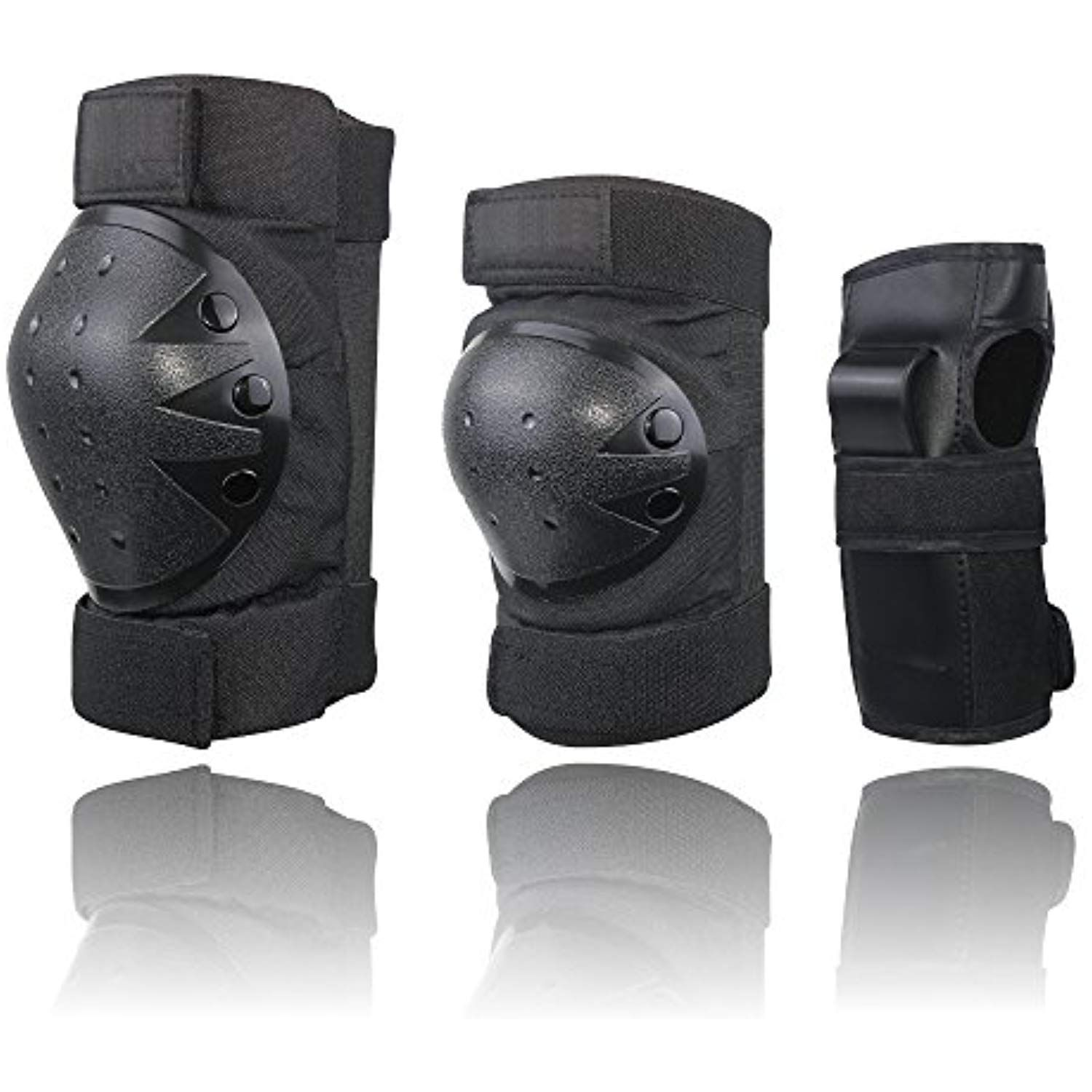 Cctro child adult protective gear set adjustable knee