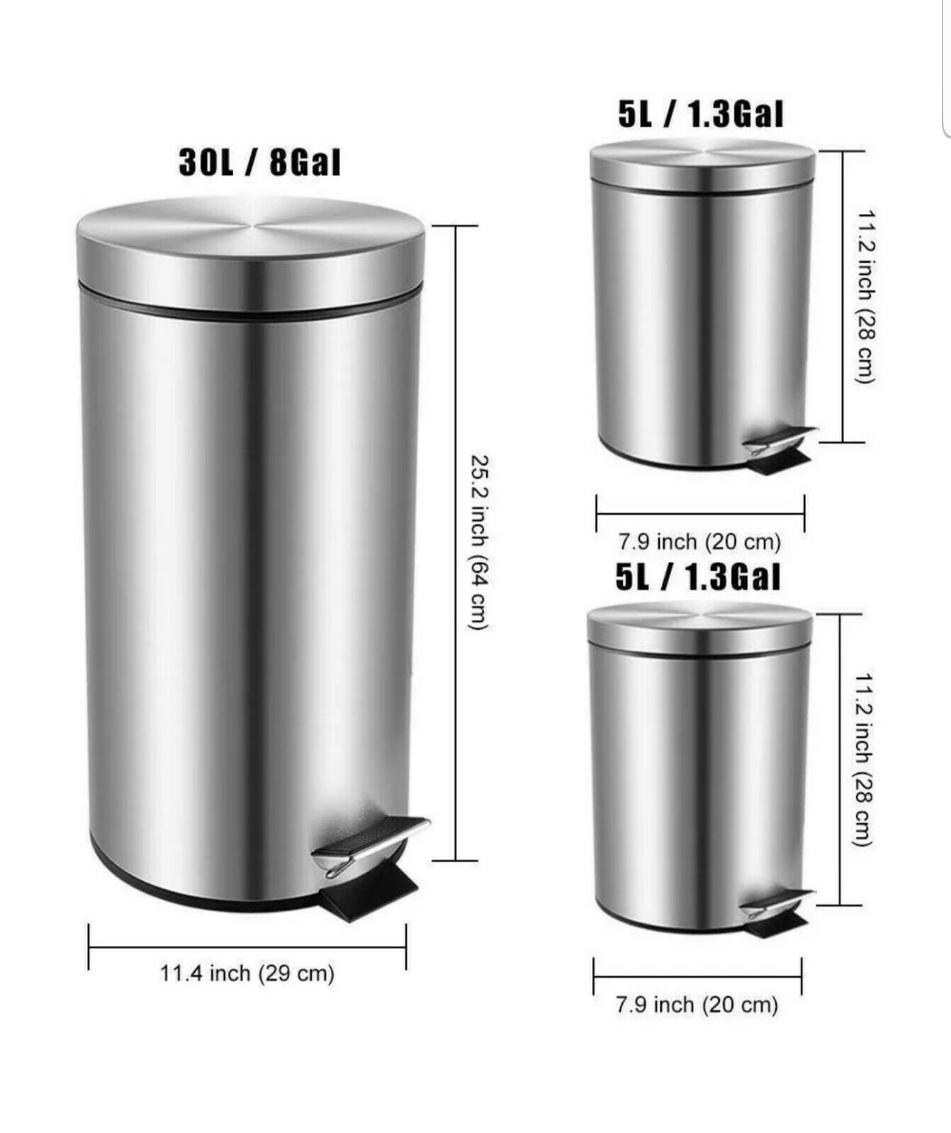 Garbage Can Garbage Can Ideas Garbage Can Garbagecan Fortune Candy Stainless Steel Step Garbage Trash Can Home 1 31 38 Gall Garbage Can Canning Trash Can