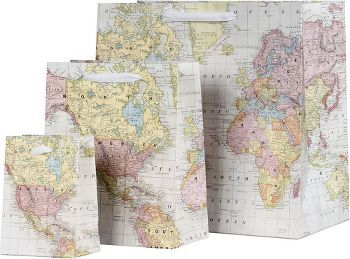 explore paper gift bags paper gifts and more small world map