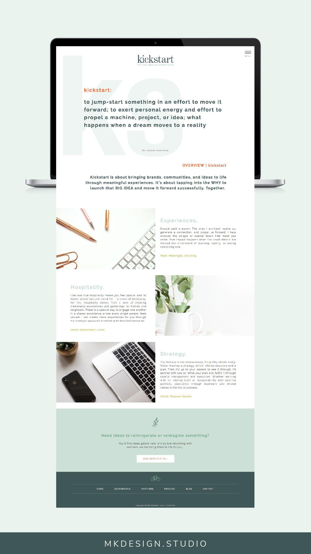 Home Page Design Inspiration For Simple Website Custom Showit5 Website By Mk Design Studio Custom Website Design Website Design Branding Website Design